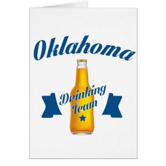 Oklahoma Drinking team Card
