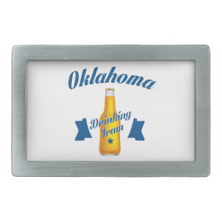 Oklahoma Drinking team Rectangular Belt Buckles