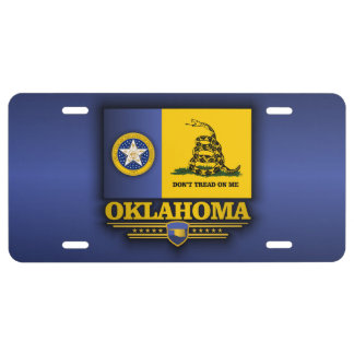 Oklahoma DTOM License Plate