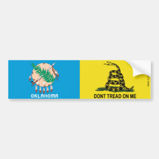 Oklahoma Flag & Gadsden Flag Bumper Sticker