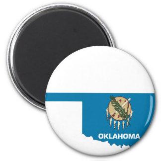 Oklahoma Flag Map Magnet