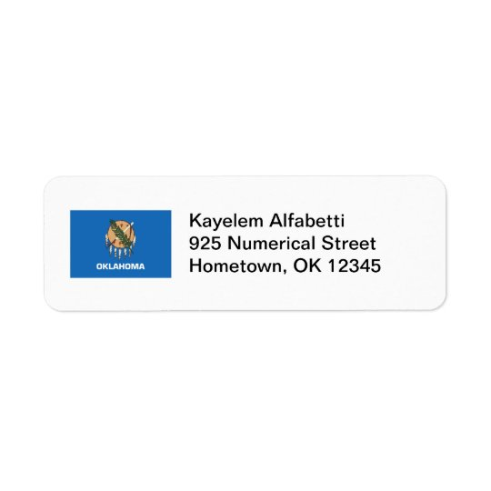 Oklahoma Flag Return Address Label