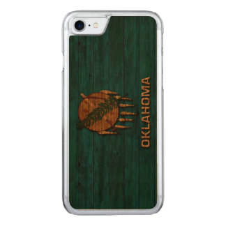 Oklahoma Flag Vintage Carved iPhone 7 Case