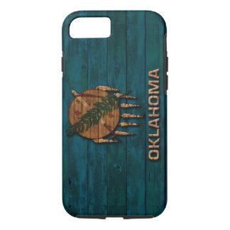Oklahoma Flag Vintage Wood Design iPhone 7 Case