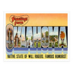 Oklahoma Greetings From US States Postcard
