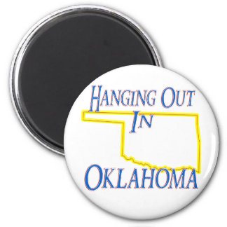 Oklahoma - Hanging Out 2 Inch Round Magnet