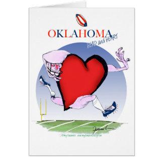 oklahoma head heart, tony fernandes card