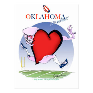 oklahoma head heart, tony fernandes postcard
