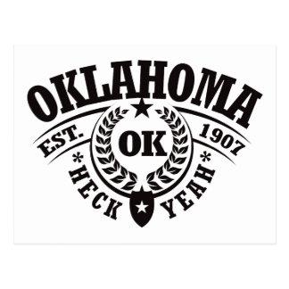 Oklahoma, Heck Yeah, Est. 1907 Postcard