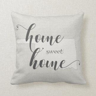 Oklahoma - Home Sweet Home burlap-look Throw Pillow