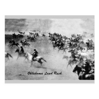 Oklahoma Land Rush Postcard
