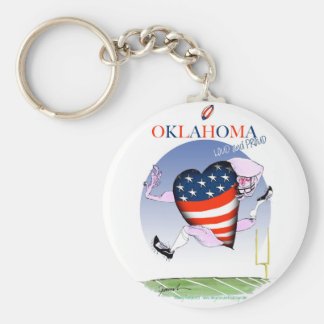 oklahoma loud and proud, tony fernandes keychain