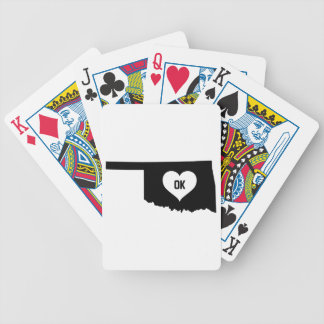 Oklahoma Love Bicycle Playing Cards