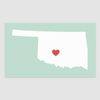 Oklahoma Love - Customizable Sticker