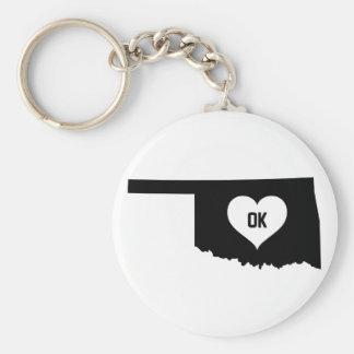 Oklahoma Love Keychain