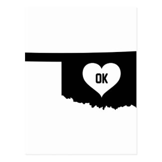 Oklahoma Love Postcard