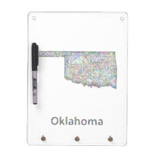 Oklahoma map dry erase board