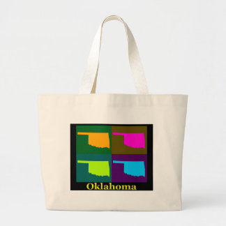 Oklahoma Map Large Tote Bag