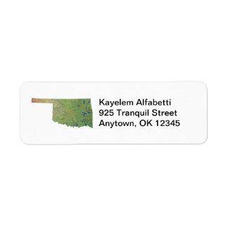 Oklahoma Map Return Address Label