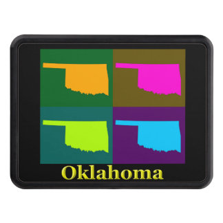 Oklahoma Map Trailer Hitch Cover