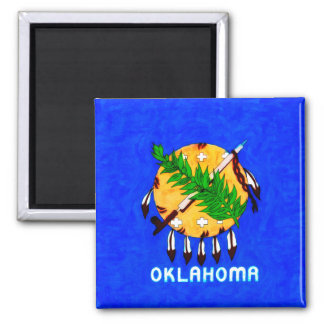 Oklahoma Painted Flag Products Magnet