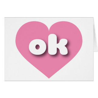 Oklahoma pink heart - mini love card
