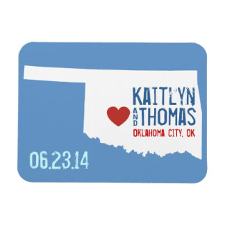Oklahoma Save the Date - Customizable City Rectangular Photo Magnet