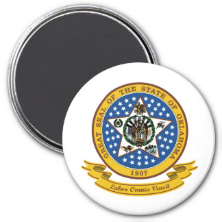 Oklahoma Seal 3 Inch Round Magnet