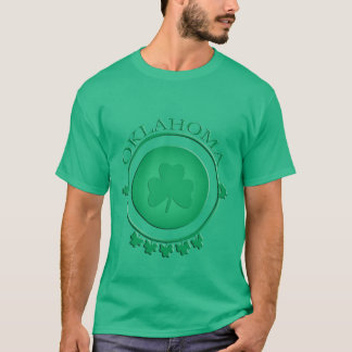 Oklahoma St. Patrick's Shamrock Green T-shirt