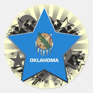 Oklahoma Star Classic Round Sticker
