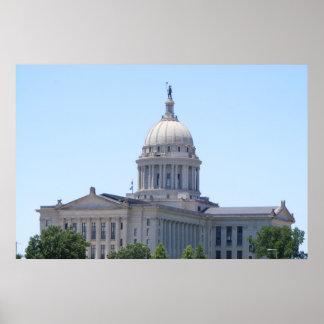 Oklahoma State Capital Poster