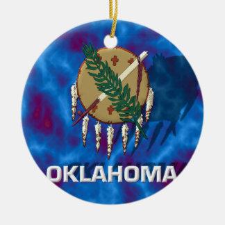 Oklahoma State Flag Ceramic Ornament