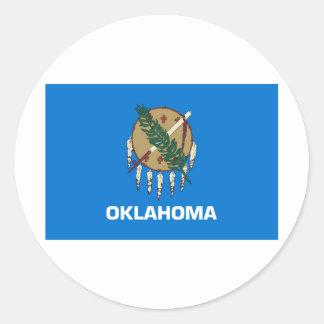 Oklahoma State Flag Classic Round Sticker