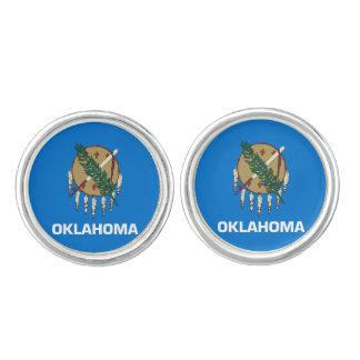 Oklahoma State Flag Cufflinks