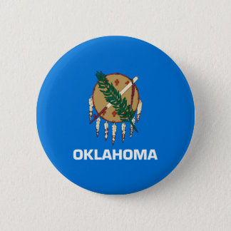 Oklahoma State Flag Design 2 Inch Round Button