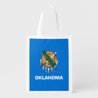 Oklahoma State Flag Design Market Totes