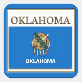 Oklahoma  State Flag Design Sticker