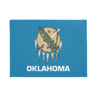 Oklahoma State Flag Door Matt Doormat