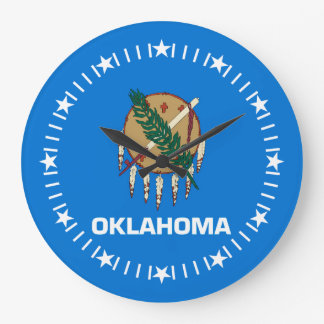 Oklahoma State Flag on a Large Clock