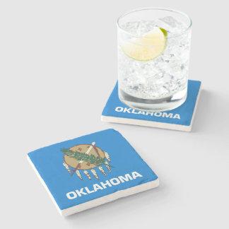 Oklahoma State Flag Stone Coaster