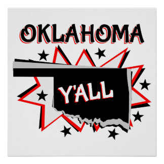 Oklahoma State Pride Y'all Poster