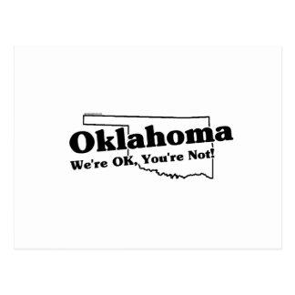 Oklahoma State Slogan Postcard