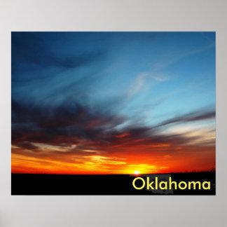 Oklahoma Sunset Poster