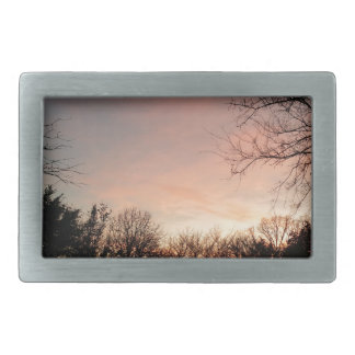 Oklahoma Sunset Rectangular Belt Buckle
