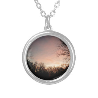 Oklahoma Sunset Silver Plated Necklace