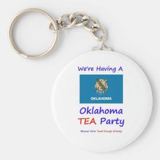 Oklahoma TEA Party - We're Taxed Enough Already! Key Chain
