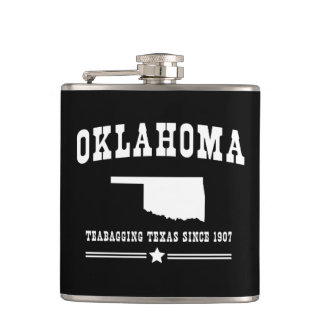 Oklahoma Teabagging Texas Since 1907 Hip Flask