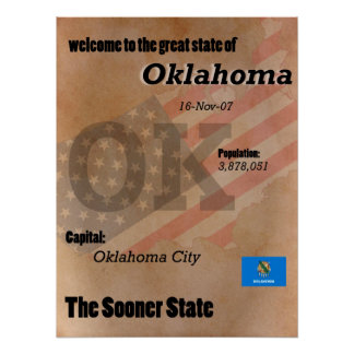 Oklahoma The Sooner State Classic Poster