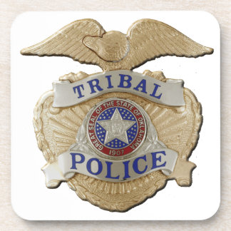 Oklahoma Tribal Police Drink Coasters