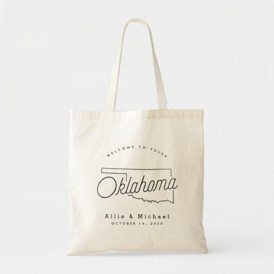 Oklahoma Wedding Welcome Tote Bag